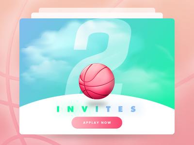 Invitation x2 bd 2018 happynewyear hellodribbble invitation free invites dribbble