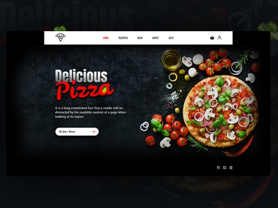 Exploration   Delicious Pizza bd recipes exploration design ux ui experience interface web food pizza