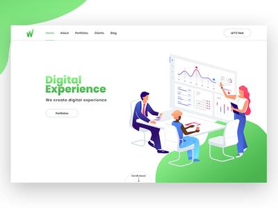 Exploration   Digital Agency webdesign ux ui trendy illustration exploration digitalagency