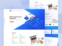 Business  Landing Page | Exploration