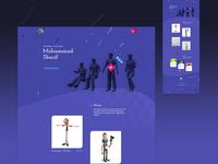 3d artist website | concept