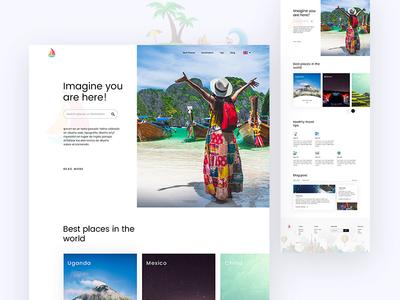 Travel Explore travelblog tips bestplaces destination webdesign ux ui landing page explore travel
