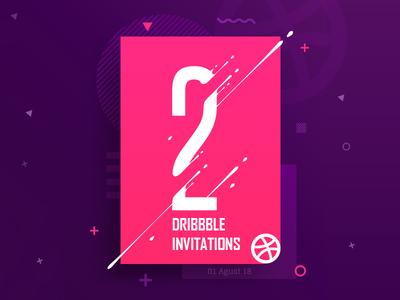 2x Dribbble invites welcome newplayer invite invitation giveaway dribbble draft
