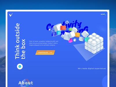 Visual Experiment   vol 1 uiux thinkoutsidethebox header webdesign landingpage about agency creativity idea experimental visual