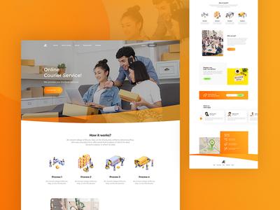 Landing page   courier service testimonial about portfolio webdesign ux ui courier service ecommerce landingpage