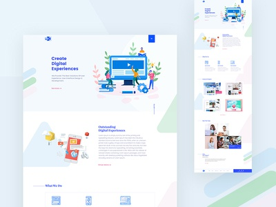 Startup agency   landing page services portfolio footer about team onepage webdesign agency digital startup