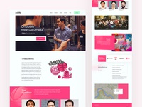 Dribbble Meetup | landing page