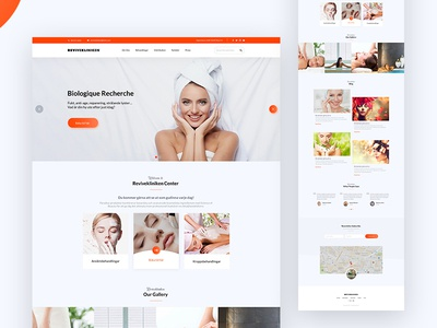 Landing Page Spa & Beauty map interface beauty onepage spa and beauty ux ui website webdesign landing page