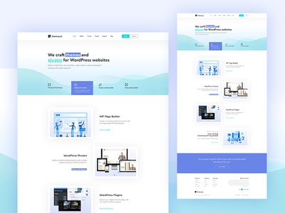 Redesign Themeum builder blog wordpressplugin wordpresstheme wppagebuilder ui ux homepage onepage themeum redesign webdesign