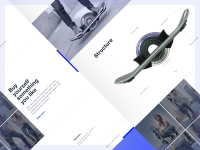 Hoverboard Landing Page Design behance project interface design contact ecommerce ui ux webdesign onepage hoverboard landing page