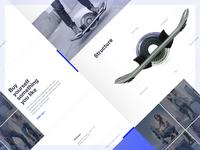 Hoverboard Landing Page Design