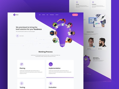 Startup Agency adobexd webdesign contact form team workingprocess ui ux website landing page startupagency