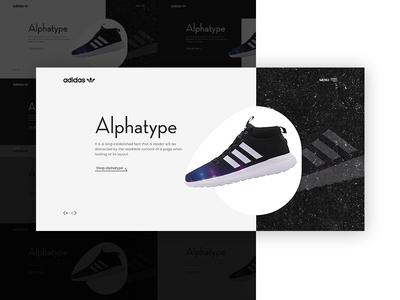 Header Exploration   adidas adidas adobexd webdesign ui  ux design trendy design hero banner header visual experiment shoes exploration visual brand