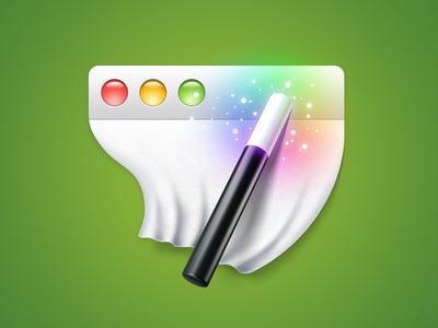 WindowWizard for Mac App Icon icon mac irradiated window