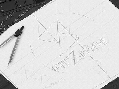 MIKEADV / Fitspace  / Brand Identity / mikeadv graphic design design illustrator flat typography branding minimal vector logo