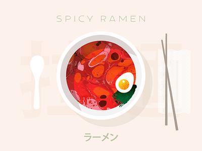 Ramen Madness type typography chopsticks marbled paper paper marbling seaweed egg illustration food soup food dreams ramen