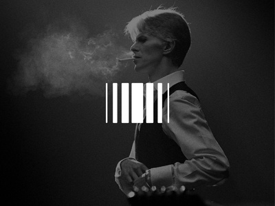 New Media branding music infinity motion black and white logo bowie