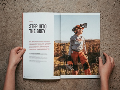 Team Rubicon Brand Field Manual guide brand sawyer woman grey indesign photography book magazine spread typography