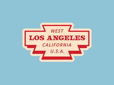 Hometown Los Angeles typography usa design logotype california americana mark logo