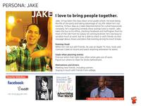 User persona - Jake