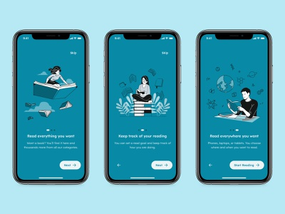 Onboarding - Daily UI 023 mobile minimal ui app design