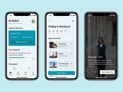 Workout Tracker - Daily UI 041 mobile minimal ui app design