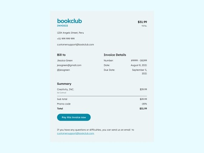 Invoice - Daily UI 046 desktop web minimal ui app design