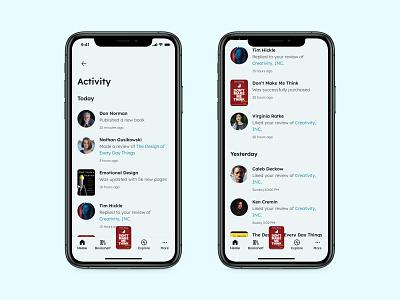 Activity Feed - Daily UI 047 mobile ui minimal app design