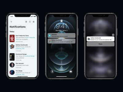 Notifications - Daily UI 049 mobile ui minimal app design
