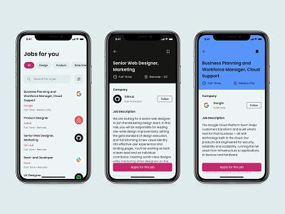 Job Listing - Daily UI 050 mobile minimal ui app design