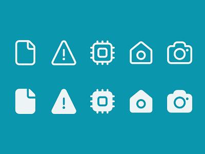 Icon Set - Daily UI 055 desktop web mobile ui design illustration
