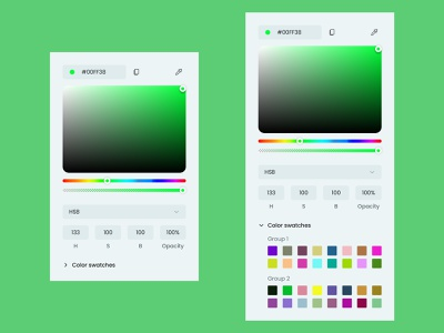 Color Picker - Daily UI 060 web mobile minimal ui app design