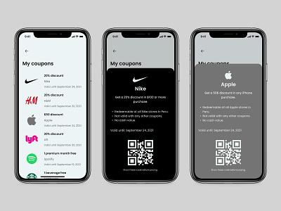 Redeem Coupon - Daily UI 061 ui mobile minimal app design