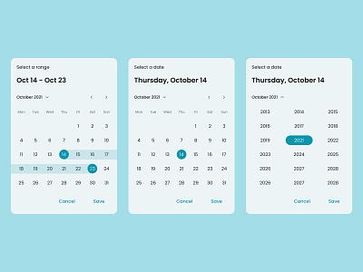 Date Picker - Daily UI 080 desktop web minimal ui app design