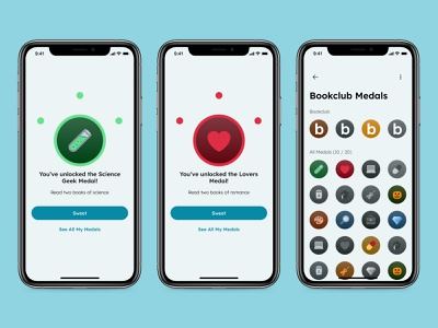 Badge - Daily UI 084 mobile minimal ui app design