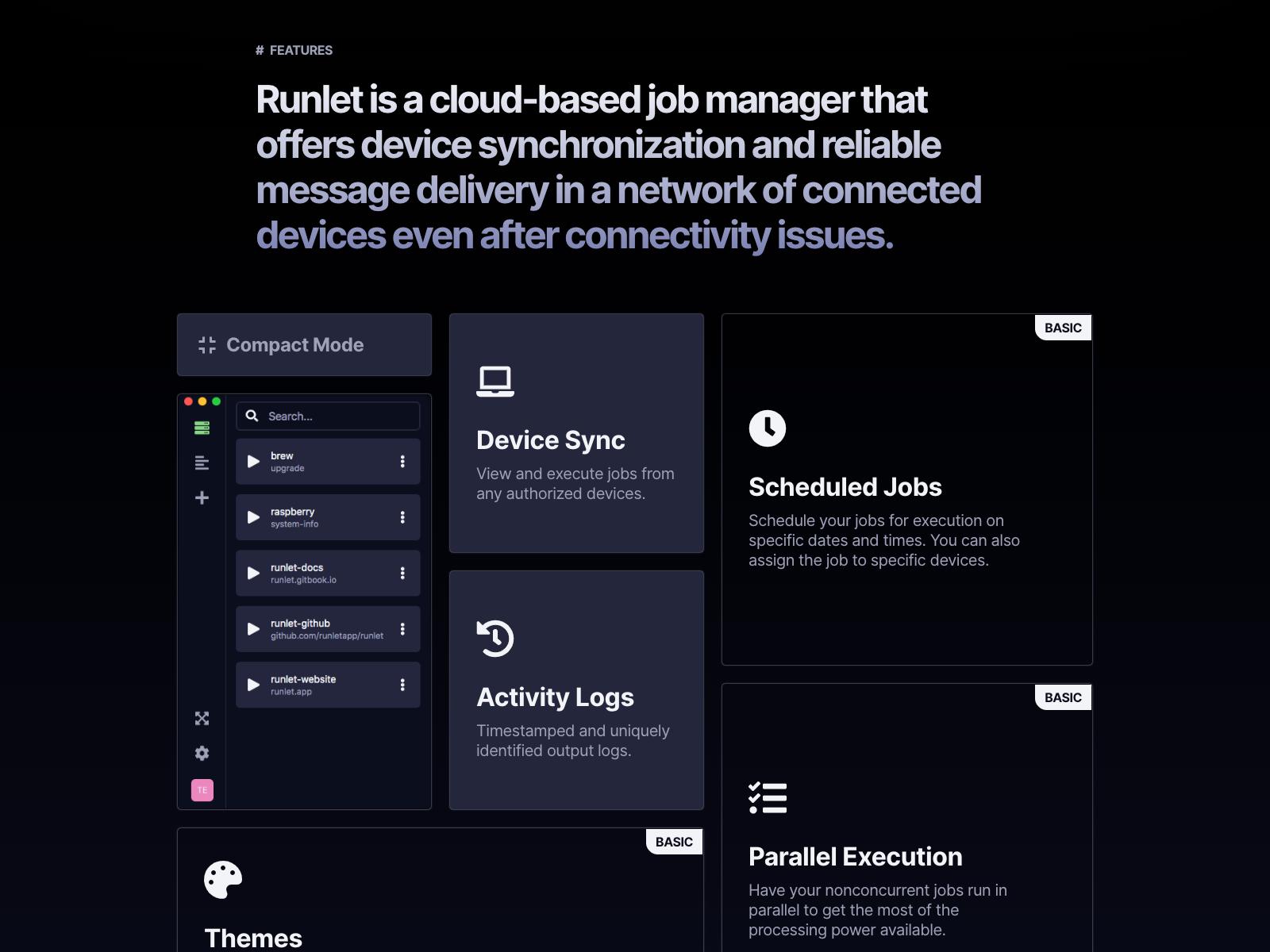 Screenshot of Runlet