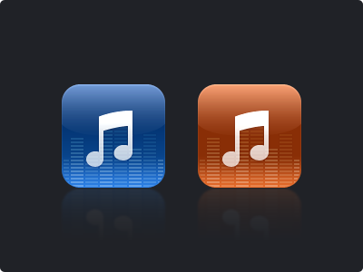 Music Icons icons music ios orange blue note app