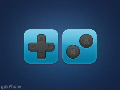 gpSPhone icons gpsphone icon simple download arrows blue buttons dpad