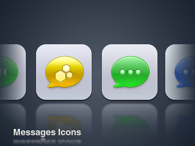 Messages icons ios theme iphone icon option² 2 beejive messages facetime blue green yellow