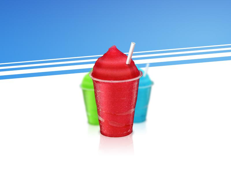 Slush Illustration slushee ice drink blue straw