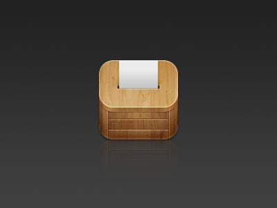 Box Icon WIP ios icon client box wood paper