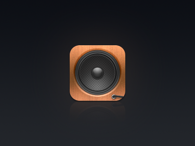 Audium iOS Icon audium ios icon speaker wood