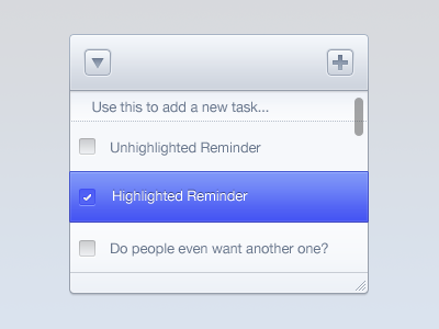 Reminders style app