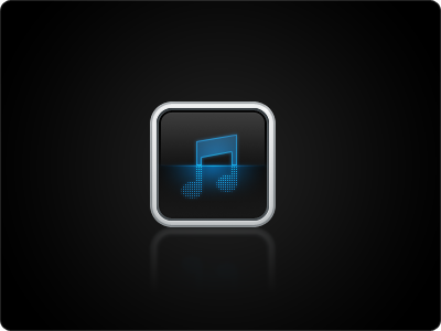 Downloader Icon ios 114 music downloader metal black blue