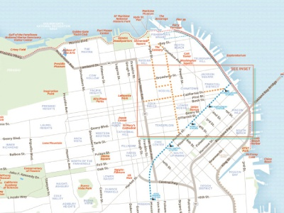 Another visitors guide, this one San Francisco map maps vector