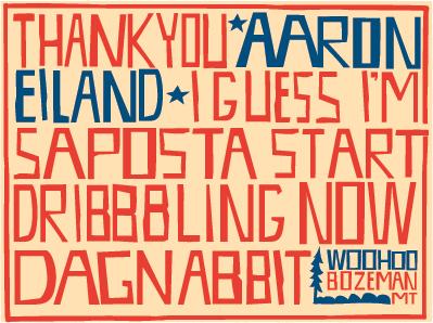 Thanks Aaron typography thank you thank you