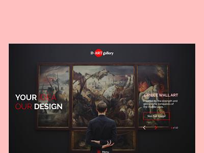 D-ART gallery display minimal figma web typography ux ui adobe xd adobexd design