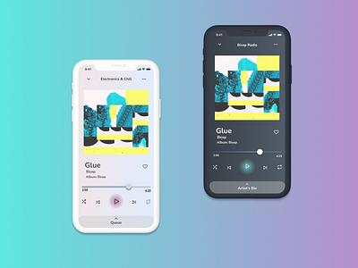 Music Player electronica edm app design figma music player music ui ux design