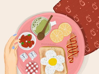 Aesthetic Breakfast foodillustration minimalillustration magazineillustration editorialillustration branding characters illustration art illustration design comic characterdesign characterart ill graphic design