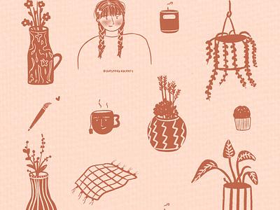 Doodle of the day minimalsketch botanicalillustration procreate digitalart sketch doodle lineart graphic design icons ui branding logo illustration art comic illustration design characters characterdesign characterart